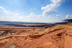 Open mining pit Stock Photos