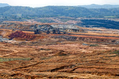 Open mining pit Stock Photography