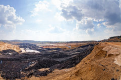 Open mining pit Stock Images