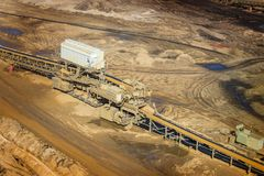 Open mining of coal by open method Stock Images