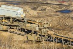 Open mining of coal by open method Stock Photo