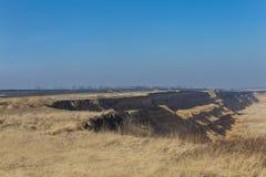 Open mining of coal by open method Stock Photos