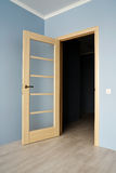 Open Modern wooden Door Stock Photo