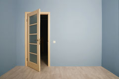 Open Modern wooden Door Royalty Free Stock Photo
