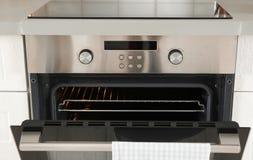 Open moderne gebouwde oven royalty-vrije stock foto