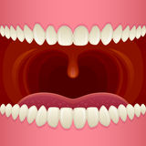 Open mouth. Close-up teeth and tongue Royalty Free Stock Images