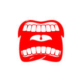 Open mouth isolated. Shout and scream. tongue and teeth Stock Photo