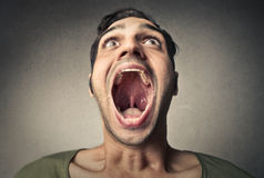 Open mouth. Man with a wide open mouth Stock Photography