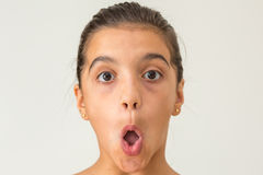 Open mouth teen girl Royalty Free Stock Photography