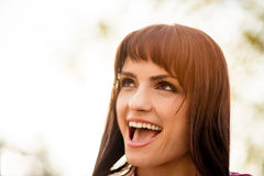Open mouth - woman portrait Stock Photography