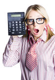 Businesswoman with calculator Royalty Free Stock Photography