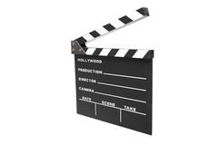 Open movie clap. Isolated against white background Royalty Free Stock Photography