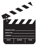 Open Movie Clapboard. On white background. Illustration. With clipping path Stock Photo