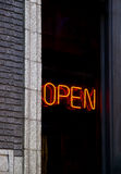 Open Neon Sign. In an old restaurant in Chicago Royalty Free Stock Photos