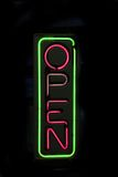 Open neon sign Stock Photos