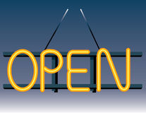 Open Neon Sign Royalty Free Stock Photography