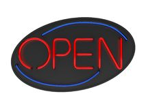 Open Neon Sign Isolated stock illustration