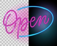 Open. Neon sign Royalty Free Stock Photos