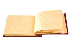 Open Nepal Mulberry paper notebook Stock Photo