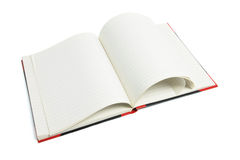 Open Note Book. On White Background Stock Image