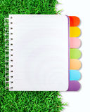 Open note book Stock Photography