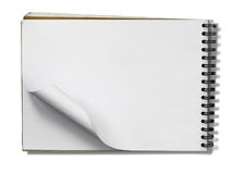 Open Note Book Blank Page on white Stock Photos