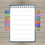 Open note book with bookmark Stock Photo
