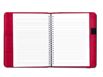 Open note book. Design for messaging Royalty Free Stock Image
