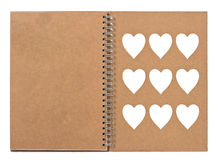 Open note book with ring binder Stock Image