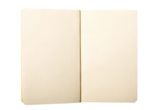 Open Note Pad Stock Photo