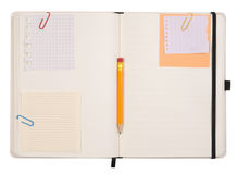 Open notebook Royalty Free Stock Photography