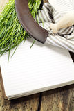 Open notebook Stock Image