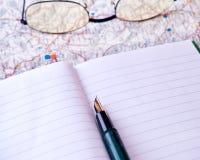Open notebook Stock Photos