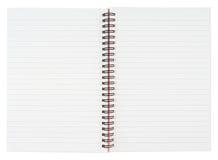 Open Notebook Stock Photo