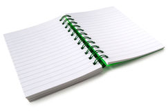 An open notebook. Stock Images