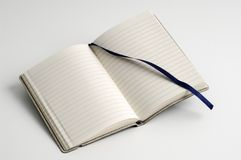 Open notebook. Isolated on white Stock Images