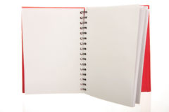 Open notebook Royalty Free Stock Photos