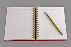 Free Open Notebook And Pencil Stock Image - 15540181