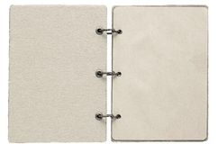 Open notebook of beige color Royalty Free Stock Photo