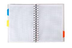 Open notebook Stock Images
