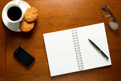 Open notebook with blank pages Royalty Free Stock Photography