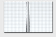 Open Notebook In Box Stock Image