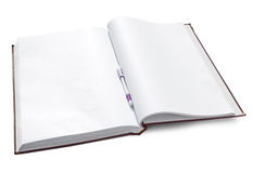 Open notebook with clear pages Stock Images