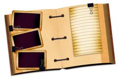 Open notebook for design on isolated background Royalty Free Stock Photo