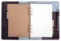Open notebook isolated. The open notebook in isolated Royalty Free Stock Images