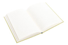 Open notebook isolated on white background Stock Images