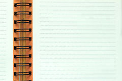 Open Notebook with Lined Page Stock Images