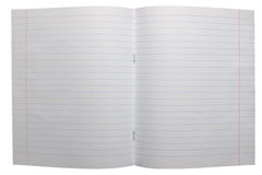 Open notebook with lined pages Royalty Free Stock Photography