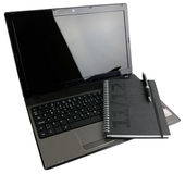 Open notebook with organizer Stock Images