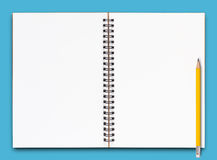 Open Notebook Page Royalty Free Stock Image
